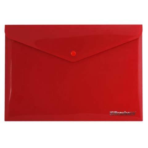 Иллюстрация 1 из 5 для Папка-конверт с кнопкой непрозрачная А4 красная (221364) | Лабиринт - канцтовы. Источник: Лабиринт