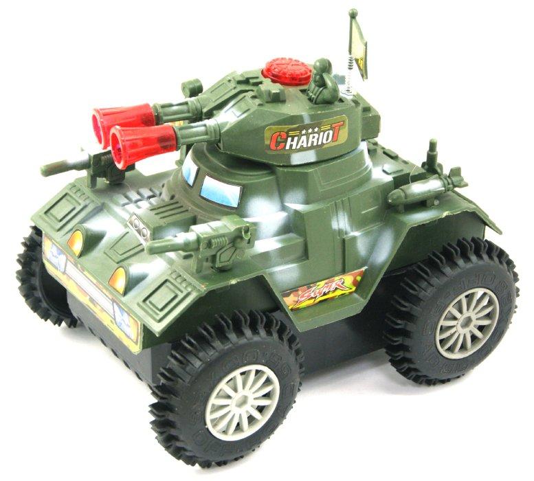 Иллюстрация 1 из 6 для Танк электромеханический, со звуковыми эффектами, 15 см (2102В/2103В) | Лабиринт - игрушки. Источник: Лабиринт