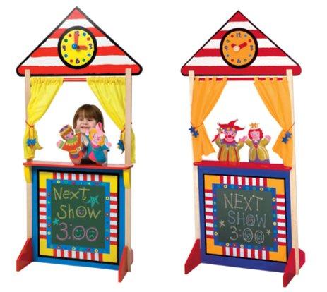 Иллюстрация 1 из 2 для Кукольный театр напольный с доской для мела (23К) | Лабиринт - игрушки. Источник: Лабиринт