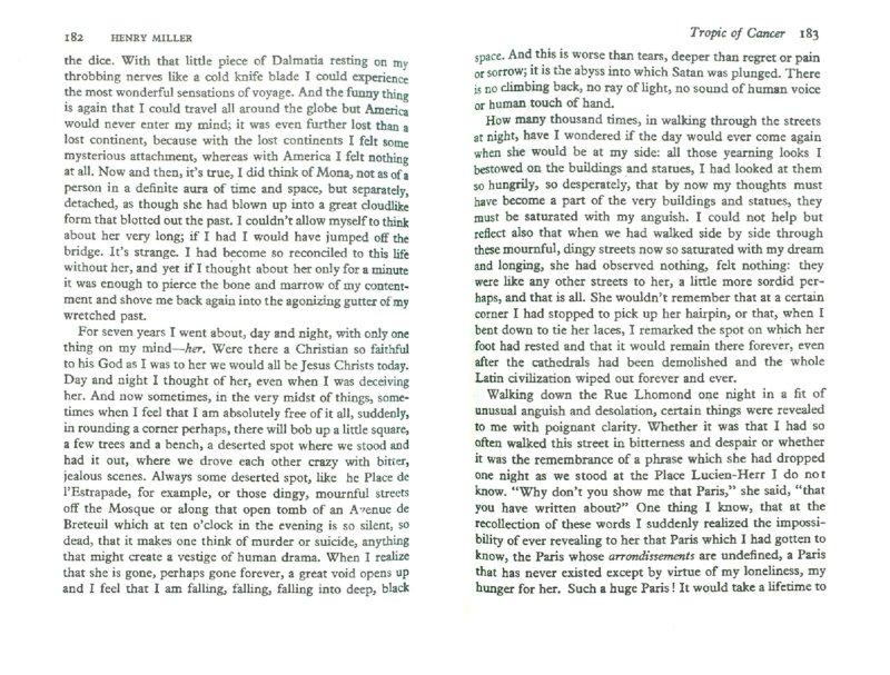 Иллюстрация 1 из 2 для Tropic of cancer - Henry Miller | Лабиринт - книги. Источник: Лабиринт