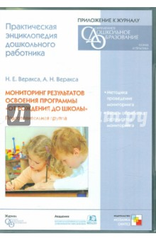 Мониторинг результатов освоения программы От рождения до школы . Подготовительная группа (CD)
