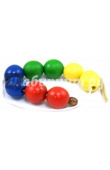Бусы Шары цветные (Д-502)Другие игрушки для малышей<br>Игрушка для детей от 1,5 лет. <br>Материал: окрашенное дерево. <br>Цель: развитие мелкой моторики, освоение навыков шнуровки.<br>Сделано в России.<br>