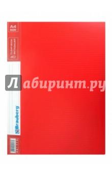 """Папка на 20 вкладышей """"Contract"""" красная, 0,7 мм (221773) Brauberg"""