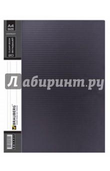 Папка на 20 вкладышей Contract черная, 0,7 мм (221771)Папки с прозрачными файлами<br>Папка для документов формата А4. <br>Матовый пластик. <br>20 вкладышей. <br>На корешке есть бумажная полоска для записей.<br>Плотность пластика 0,7 мм.<br>Сделано в России.<br>