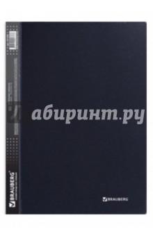 """Папка на 60 вкладышей """"Диагональ"""" черная, 0,9 мм (221328)"""