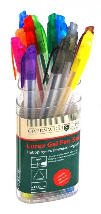 Иллюстрация 1 из 14 для Набор ручек гелевых люрекс, трехгранные, 12 цветов (GLXZX-2788set) | Лабиринт - канцтовы. Источник: Лабиринт
