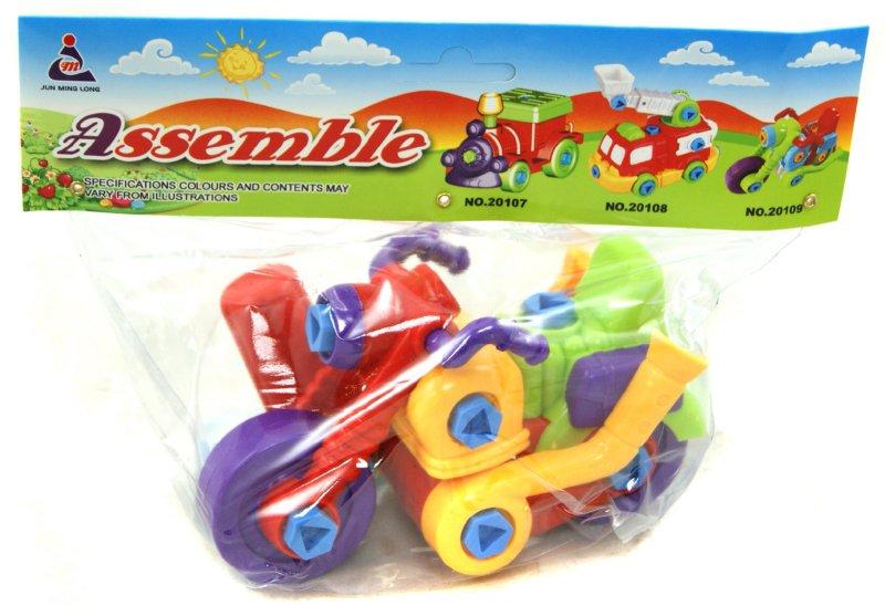 Иллюстрация 1 из 10 для Мотоцикл-констуктор, в наборе с инструментом (20109) | Лабиринт - игрушки. Источник: Лабиринт