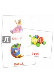 """Комплект карточек """"Первые английские слова"""" 16,5х19,5 см."""