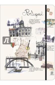 """Книга для записи линованная на резинке """"Португалия"""" (60586)"""