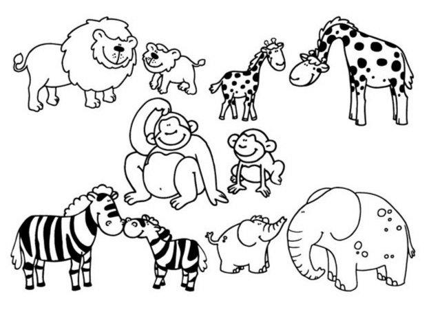 """Иллюстрация 1 из 12 для Стампоминос """"Животные Африки. Большие и маленькие"""" (85100)   Лабиринт - игрушки. Источник: Лабиринт"""