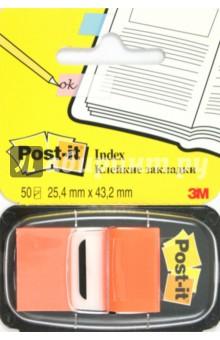 Закладки самоклеящиеся, 50 штук, оранжевые (124132/680-4) POST-IT