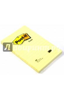 Блокнот с клеевым краем 102х152 мм, 100 листов, желтый (124128/660) POST-IT