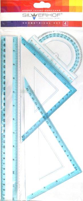 Иллюстрация 1 из 2 для Набор геометрический, 4 предмета, большой (160102) | Лабиринт - канцтовы. Источник: Лабиринт
