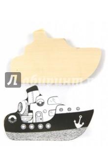 Доска под роспись и выжигание Кораблик (Д-406)