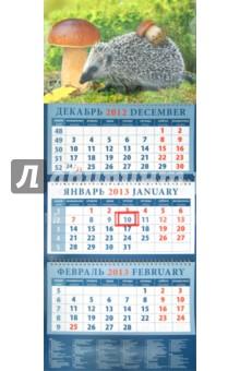 """Календарь 2013 """"Ежик с грибом"""" (14349)"""