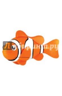 РобоРыбка. Желтая рыбка Клоун (2501-4)Роботы и трансформеры<br>Электронная игрушка Желтая рыбка-клоун - это маленькая, симпатичная и компактная рыбка, которая создана с использованием самых последних технологий. Эта игрушечная рыбка очень натурально повторяет движения настоящей рыбы-клоуна. Чтобы активировать ее, просто достаньте ее из упаковки и опустите в воду, и рыбка тут же заспешит по своим рыбьим делам. Такая игрушка приведет восторг не только ваших детей, но и удивит взрослых. Целый аквариум таких рыбок - очень красивое зрелище, а главное, у них не надо убирать и менять воду, а еще они не нуждаются в корме. Если рыбка перестанет двигаться, достаточно сменить ей батарейки, и она снова готова радовать вас. <br>Для работы рыбки требуются 2 батарейки LR44 (есть в комплекте).<br>Для детей от 3-х лет.<br>Длина рыбки 7,5 см.<br>Изготовлено из пластмассы, с элементами из резины и металла.<br>Сделано в Китае.<br>