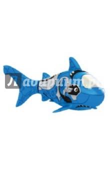 РобоРыбка Голубая Акула (2501-6)Роботы и трансформеры<br>Электронная игрушка Голубая Акула - это маленькая, умная и компактная рыбка создана с использованием самых последних технологий. Эта игрушечная рыбка очень натурально повторяет движения настоящей акулы. Чтобы активировать ее, просто достаньте ее из упаковки и опустите в воду, рыбка тут же заспешит по своим рыбьим делам. Такая игрушка приведет восторг не только Ваших детей, но и удивит взрослых. Целый аквариум таких рыбок - очень красивое зрелище, а главное у них не надо убирать, кормить и менять воду. Если рыбка перестанет двигаться, достаточно сменить ей батарейки, и она снова готова радовать Вас. <br>Для работы рыбки требуются 2 батарейки LR44 (есть в комплекте).<br>Длина рыбки 8,4 см.<br>Изготовлено из пластмассы, с элементами из резины и металла.<br>Для детей от 3-х лет.<br>Сделано в Китае.<br>