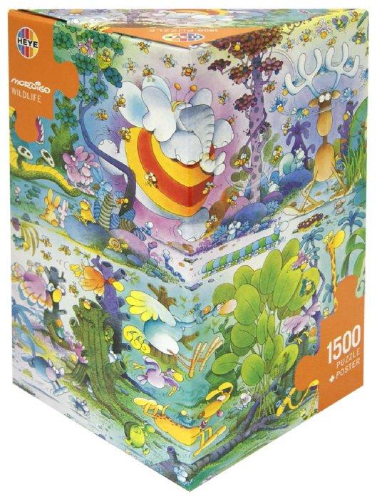 """Иллюстрация 1 из 9 для Puzzle-1500 """"Дикая жизнь, Mordillo"""" (29187)   Лабиринт - игрушки. Источник: Лабиринт"""