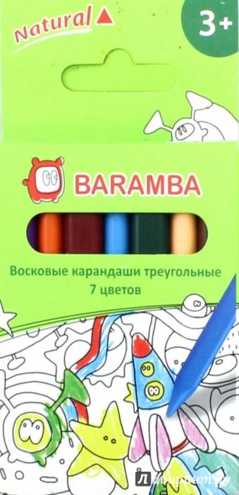 Иллюстрация 1 из 23 для Карандаши 7 цветов, восковые трехгранные в картонной коробке, В ассортименте (B97307) | Лабиринт - канцтовы. Источник: Лабиринт