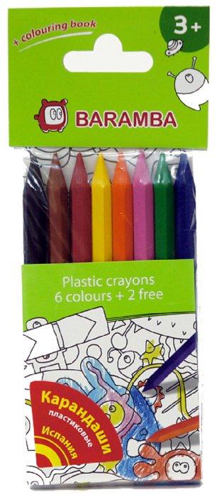 Иллюстрация 1 из 9 для Карандаши пластиковые 8 цветов, в блистере (B96208) | Лабиринт - канцтовы. Источник: Лабиринт