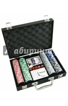 Настольная игра Набор для игры в покер 200 фишек (24937)