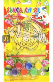 Витраж Рыбка круглая (2520)