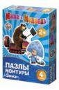 Настольная игра Зима. Пазл-контур. Маша и Медведь