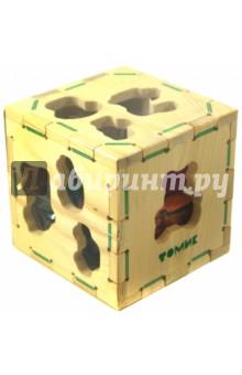 Сортер Веселые фигурки 13 деталей (968)Пирамидки, сортеры и стучалки<br>Сортер представляет собой деревянный куб из массива сосны толщиной 7 мм и длиной стороны 12 см. <br>Стенки его выпилены с пазловыми замками. <br>На четырех сторонах куба по два - три отверстия для вставления фигурок, <br>на верхней, снимаемой, крышке - только одно.<br>Фигурки сюжетные, их можно использовать для самостоятельных игр.<br>Каждая сторона тематическая: с одно стороны деревья, с другой - транспорт, с двух сторон - животные.<br>Размер фигурок от 7.5 см до 2.5, толщина 1.5 см.<br>Всего в наборе 13 деталей, окрашенных с обоих сторон, нанесен рисунок. <br>Возраст: до 4 лет<br>