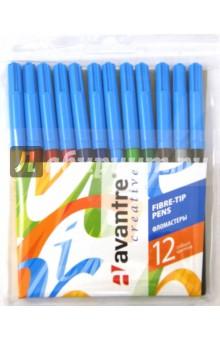 Фломастеры Creative 12 цветов (C2101000012)Фломастеры 12 цветов (9—14)<br>Набор цветных фломастеров.<br>Количество цветов: 12<br>Яркие, контрастные цвета.<br>Длительные срок службы.<br>Прочный, устойчивый  деформациям наконечник.<br>Безопасный вентилируемый колпачок предотвращает испарение чернил<br>Корпус круглый, пластиковый<br>Из-за наличия мелких деталей не рекомендовано детям младше 3-х лет.<br>Упаковка: блистер с подвесом.<br>Сделано в Италии.<br>