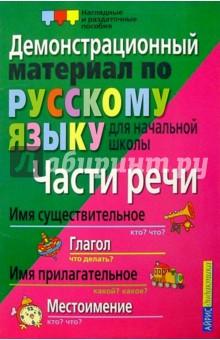 Части речи. Демонстрационный материал по русскому языку для начальной школы