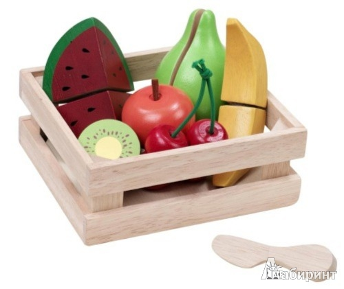 Иллюстрация 1 из 2 для Набор из 6 фруктов в корзинке (ВВ-4512) | Лабиринт - игрушки. Источник: Лабиринт