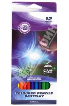 Карандаши цветные Space Odyssey (12 цветов) (3652/12)Цветные карандаши 12 цветов (9—14)<br>Цветные карандаши.<br>Количество штук в упаковке: 12.<br>Количество цветов: 12.<br>Диаметр карандашей: 7 мм.<br>Толщина линии: 3 мм.<br>Упаковка: картонная коробка<br>Сделано в Чехии.<br>
