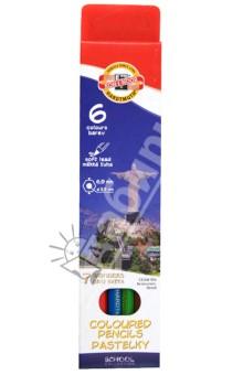 Карандаши цветные 7 чудес света (6 цветов) (3651)Цветные карандаши 6 цветов (4—8)<br>Цветные карандаши.<br>Количество штук в упаковке: 6.<br>Количество цветов: 6.<br>Мягкий стержень.<br>Диаметр карандашей: 6,9 мм.<br>Диаметр стержня: 3,3 мм.<br>Упаковка: картонная коробка.<br>Сделано в Чехии.<br>