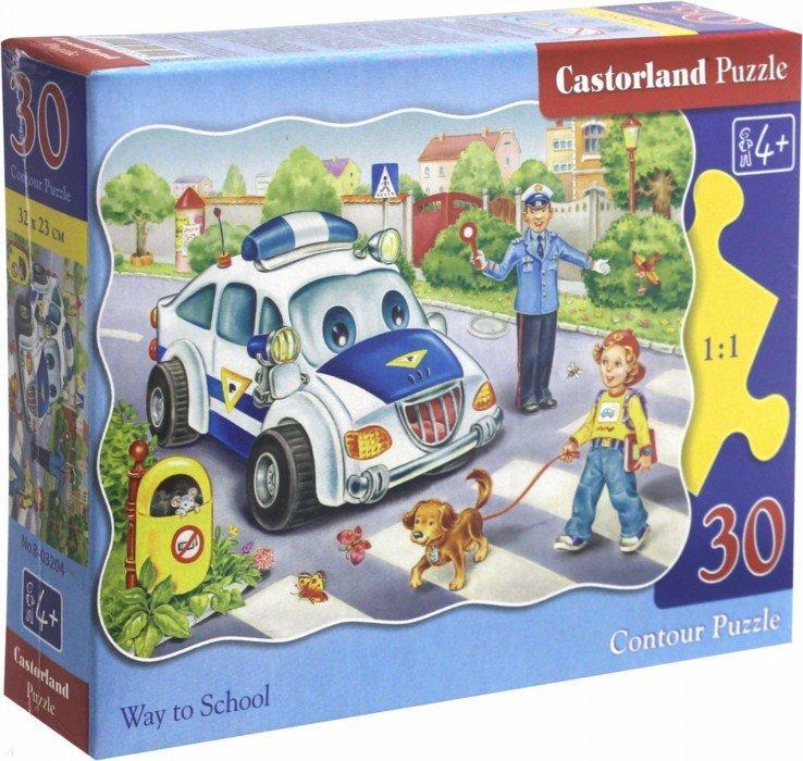 """Иллюстрация 1 из 4 для Мозаика-пазл, Puzzle MIDI, 30 элементов, """"Дорога в школу"""" (В-03204)   Лабиринт - игрушки. Источник: Лабиринт"""