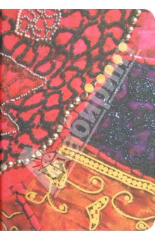 Бизнес-блокнот Fabric Modo Arte 80 листов, А6 (6018)Блокноты (нестандартный формат)<br>Для создания этой коллекции использовались картины, созданные в технологии росписи по ткани - батик.  Искусство росписи по ткани уникально. Каждый раз получаются все новые и новые шедевры, рождаемые рукой мастера. <br>Изделие: Бизнес-блокнот Серия FABRIC 120х170<br>Твердый книжный переплет <br>Формат: А6 (120х170)<br>Количество листов: 80<br>Плотность: 100 г/м2<br>Блок: бумага класса люкс, безкислотная, тонированная в массе слоновая кость<br>Линовка: линия<br>Ляссе<br>Внутренний карман для мелочей<br>Крепление: ниткошвейное<br>Тиснение: фактура вышивки<br>Эффекты обложки: печать золото<br>