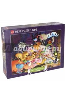 Puzzle-1000 Тарзан Mordillo (29213)Пазлы (1000 элементов)<br>Пазлы-мозаика.<br>Правила игры: вскрыть упаковку и собрать игру по картинке.<br>В коробке 1000 пазлов.<br>Размер собранной картинки: 50х70 см.<br>Не давать детям до 3-х лет из-за наличия мелких деталей.<br>Материал: картон<br>Производство: Германия.<br>