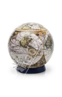 Настольная игра Старинная карта мира. Шаровый пазл 15 см
