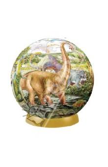 Настольная игра Динозавры. Шаровый пазл 23 см, 540 элементов