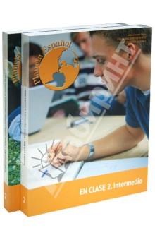 Учеб. Planeta Espanol.En Clace 2.Intermedio + Раб тетрадь Planeta Espanol.En Casa 2.Intermedio (+CD)Испанский язык<br>Учебник современного испанского языка Planeta Espanol. En Clases 2. Intermedio - это учебник современного испанского языка, соответствующий программе второго года обучения испанского языка для языковых специальностей.<br>Представляет собой Книгу по грамматике, к которой прилагается Рабочая тетрадь Planeta Espanol En Casa 2. Intermedio.<br>Настоящая Книга по грамматике может быть использована для желающих выучить испанский как второй иностранный, а также будет полезна всем, кто хочет расширить свои знания об Испании и Латинской Америке.<br>Рабочая тетрадь к учебнику современного испанского языка Planeta Espanol. En Casa 2. Intermedio - это Рабочая тетрадь к Учебнику современного испанского языка (к Книге по грамматике  Planeta Espanol En Clasel. Intermedio).<br>Рабочая тетрадь предназначена для самостоятельной работы. В ней содержатся упражнения для отработки материала, раскрываемого в Книге по грамматике (En Clase 2), а также тексты для чтения, запоминания и перевода, ключи к упражнениям (для самопроверки), испанско-русский и русско-испанский словарь (для удобства студента).<br>Важное место в Рабочей тетради занимают упражнения на аудирование и тексты для прослушивания, озвученные носителями языка. CD к ним находится в книге по грамматике.<br>1-е издание<br>