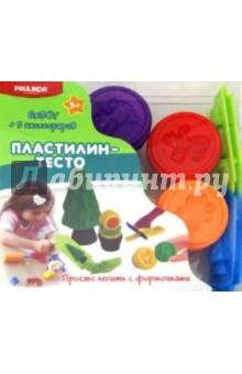 Пластилин - тесто, 6 баночек + формочки (086074-DH)