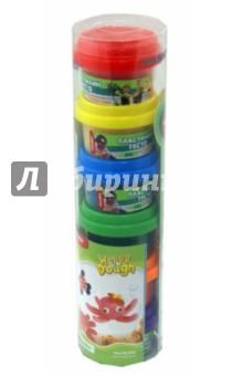 Пластилин - тесто Happy Dough цветной, 6 баночек в тубе (DH-086062)