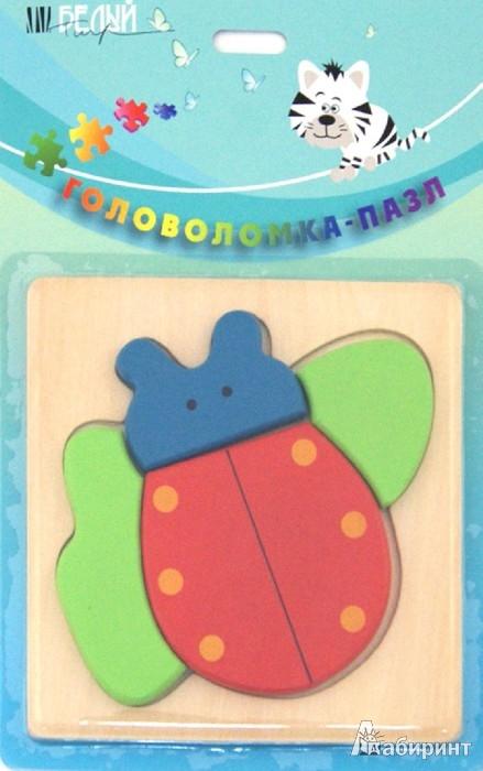 """Иллюстрация 1 из 2 для Пазл на деревянной подставке """"Жучок"""" (5001-5008)   Лабиринт - игрушки. Источник: Лабиринт"""