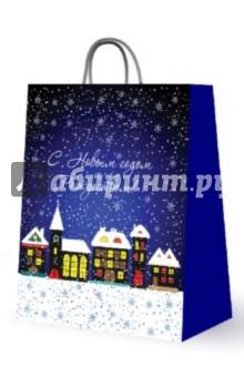 """Бумажный пакет для сувенирной продукции """"С новым годом и рождеством"""" (27606)"""
