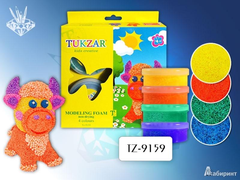 Иллюстрация 1 из 4 для Пластилин шариковый, 4 цвета (TZ 9159)   Лабиринт - игрушки. Источник: Лабиринт