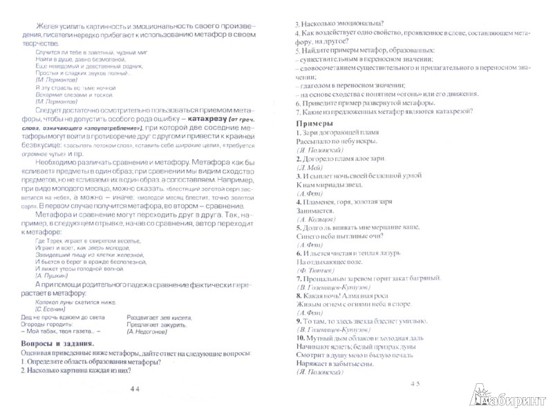 Иллюстрация 1 из 7 для Словесность. Теория и практика. Часть 1. Тропы - Наталья Волкова   Лабиринт - книги. Источник: Лабиринт