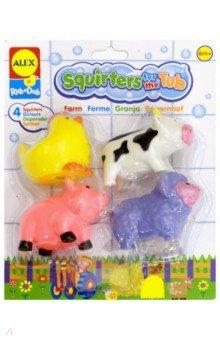 Игрушки для ванной Ферма 4 шт. в сумке (700FN)Игрушки для ванной<br>Веселые разноцветные игрушки-брызгалки животные для игры в ванной. Плавают в воде.<br>Количество предметов: 4.<br>Упаковка: пластиковая сумочка с текстильными ручками<br>Для детей от 6 месяцев.<br>Сделано в Китае.<br>