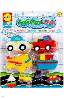 Игрушки для ванной Транспорт 4 шт. в сумке (700TN)Игрушки для ванной<br>Развивающие игрушки-брызгалки: 2 машинки, самолет и пароход дл я веселой игры в ванной. Плавают в воде<br>Количество предметов: 4.<br>Упаковка: пластиковая сумочка с текстильными ручками.<br>Для детей от 6 месяцев.<br>Сделано в Китае.<br>