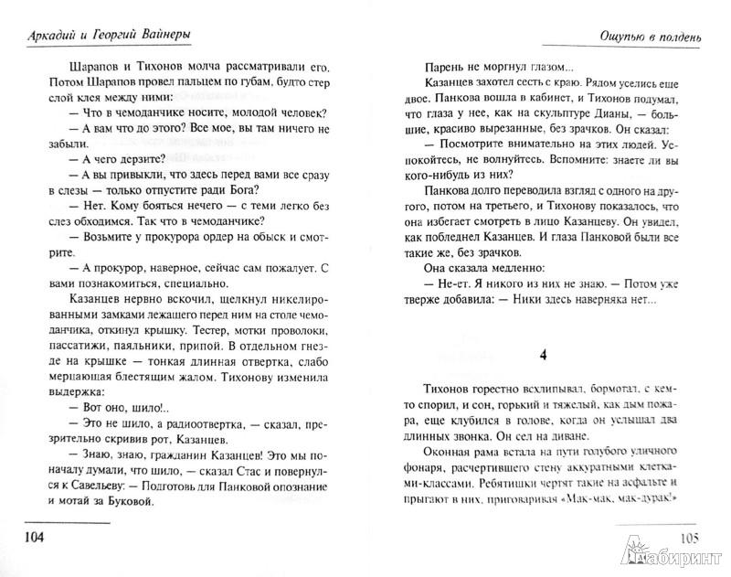 Иллюстрация 1 из 17 для Ощупью в полдень - Вайнер, Вайнер | Лабиринт - книги. Источник: Лабиринт