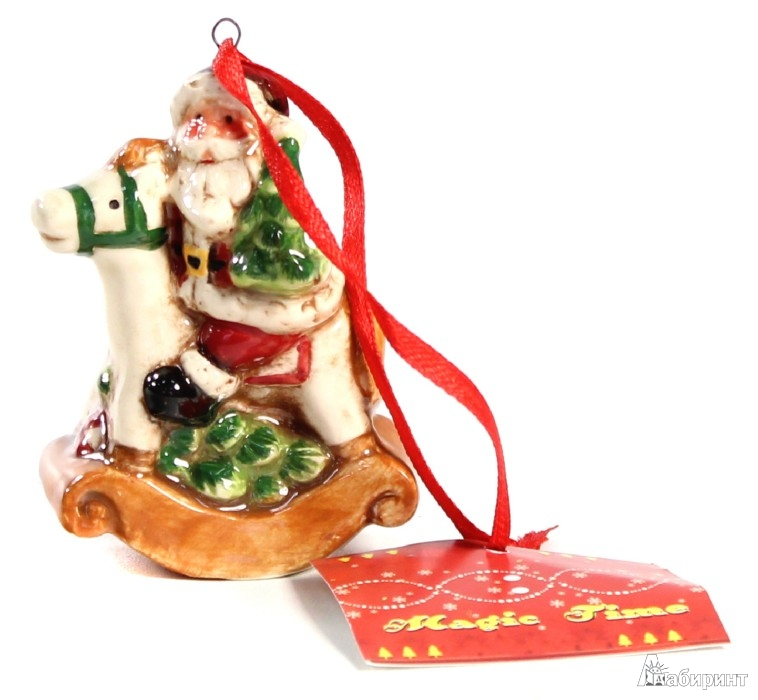 Иллюстрация 1 из 4 для Новогоднее подвесное елочное украшение «Санта на лошади» (25700)   Лабиринт - сувениры. Источник: Лабиринт