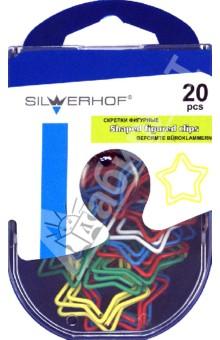 """Скрепки фигурные """"Звезда"""" 20 штук (493003) Silwerhof"""